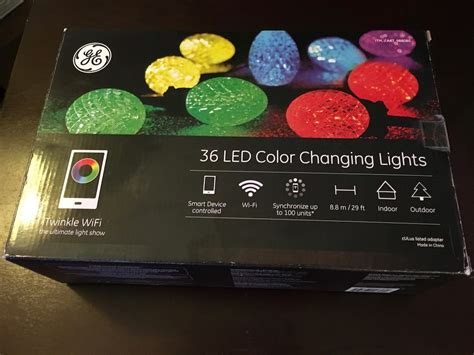 collection of ge color changing led lights