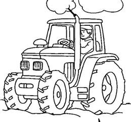 rainbow fish book farmer working with tractor coloring page download