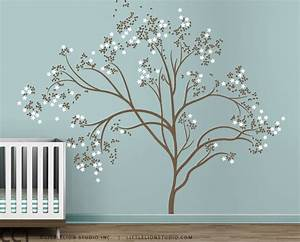 Blossom tree extra large wall decal japanese cherry blossom for Large wall decals