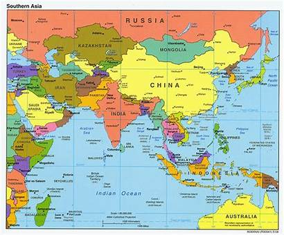 Asia Map South Political Maps East Countries