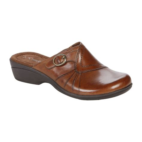 i comfort shoes at sears i comfort womens leather clog shannon brown
