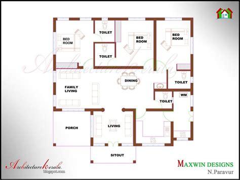 unique single floor  bedroom house plans kerala  home plans design