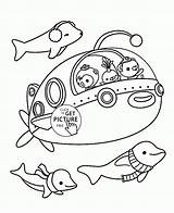 Submarine Coloring Cartoon Pages Transportation Printable Printables Toddlers Colouring Template Pig Peppa Bike Wuppsy sketch template