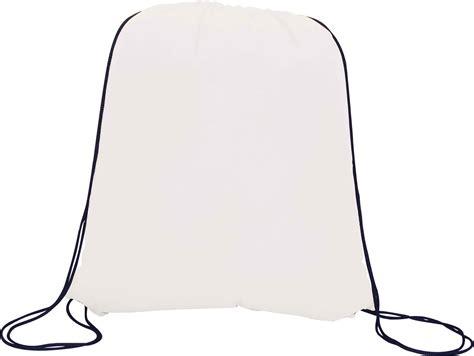 mercury drawstring bag white min order 100