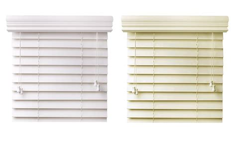 white faux wood blinds 2 quot faux wood blinds in snow white or white groupon