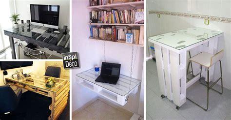 bureau en palette de bois fabriquer un bureau avec des palettes 20 idées