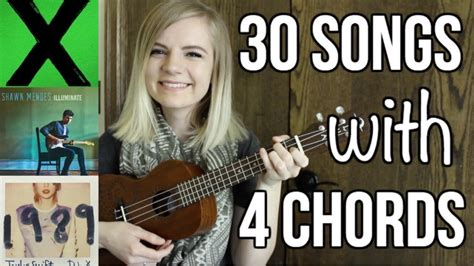 Shares 50 easy and romantic songs that sound delightful on the ukulele… dozens of romantic hits between the 1900s and today are easy to play on the ukulele. 4 basic chords, 30 songs on ukulele - YouTube