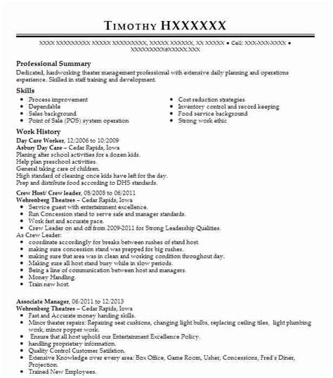Daycare Worker Resume by Day Care Worker Resume Sle Caregiver Resumes Livecareer