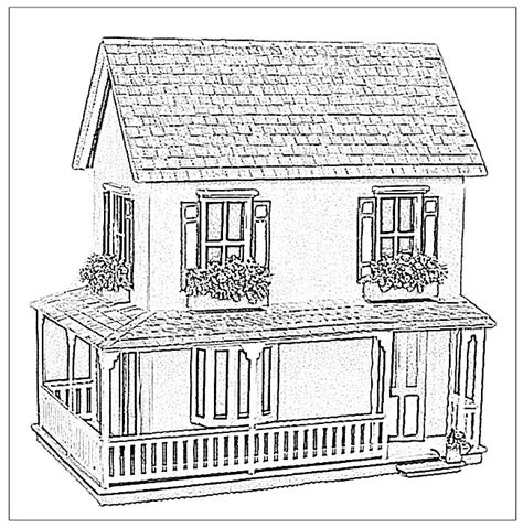 images of magnolia doll coloring pages doll house