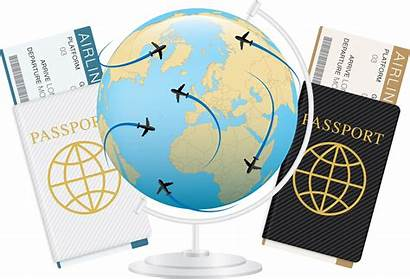 Passport Ticket Plane Clipart Transparent Agent Travel