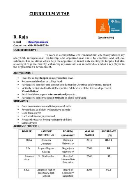 fresher resume