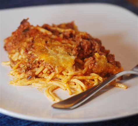 spaghetti casserole baked cream cheese spaghetti casserole recipe diaries