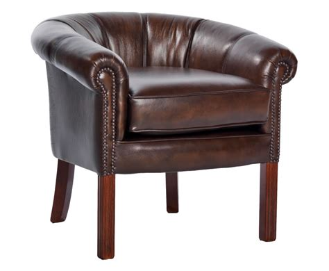 hernando antique brown leather tub chair uk delivery