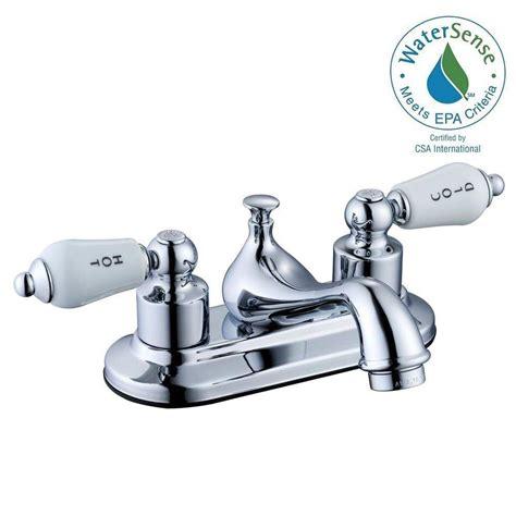 Glacier Bay Bathroom Faucets by Glacier Bay Teapot 4 In Centerset 2 Handle Low Arc