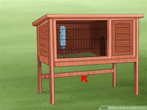 How To Make Your Own Rabbit Hutch by How To Build A Rabbit Hutch With Pictures Wikihow
