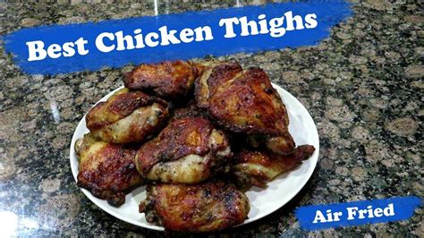 chicken thighs fryer air bone oven power airfryer cooking recipes fried thigh cook
