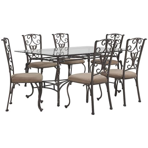 westcot2 rect glass table 4 chairs