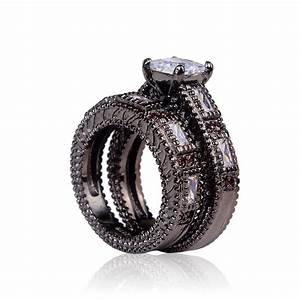 cheap black ring 2016 women wedding rings jewelry With cheap black wedding rings