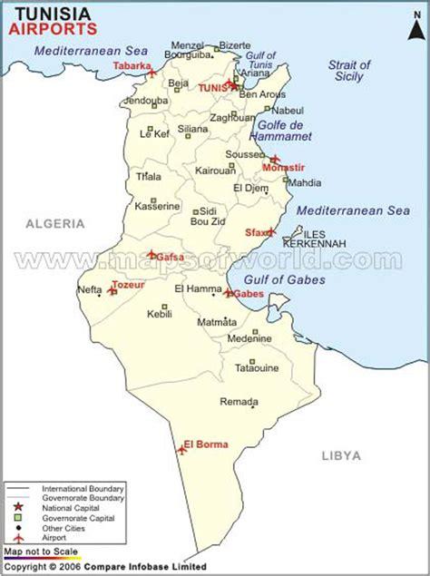 Airports in Tunisia, Tunisia Airports Map