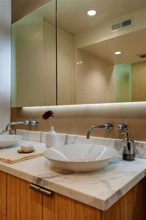 floating mirror  vanity modern bathroom san