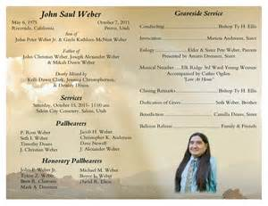 Free Printable Funeral Service Program