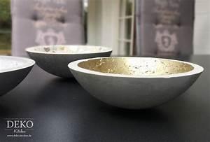 Deko Aus Beton Selber Machen : diy coole deko schalen aus kreativ beton deko kitchen ~ Markanthonyermac.com Haus und Dekorationen
