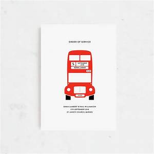london bus personalised wedding invitations by lola39s With wedding invitations cheap london