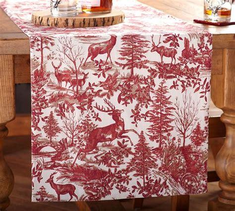 pottery barn christmas table runner alpine toile table runner pottery barn fabulous