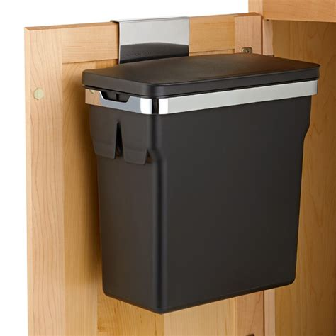 cabinet trash can simplehuman black in cabinet 2 6 gal trash can the