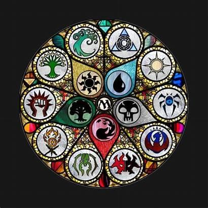 Magic Gathering Mtg Stained Glass Symbols Guild