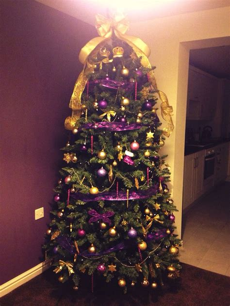 purple and gold top for tree 61 best images about on trees chandelier and frame wreath