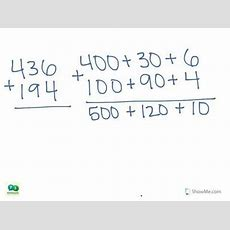 2nd Grade Math Addition  Expanded Form With Regrouping (3digit Plus 3digit) (no) Youtube