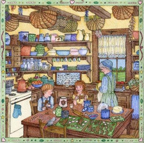 gingerbread men  grandmas kitchen art  johannah