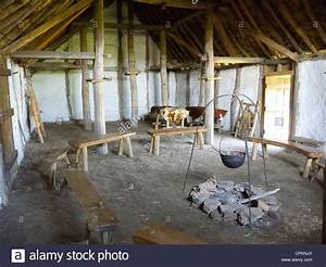 A medieval farm house interior at The Museum of Early