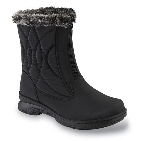 Athletech Women's Quade Black Winter Boot   Wide Width