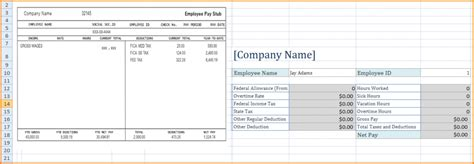 exle pay stub for students comfortable excel paystub template gallery resume ideas