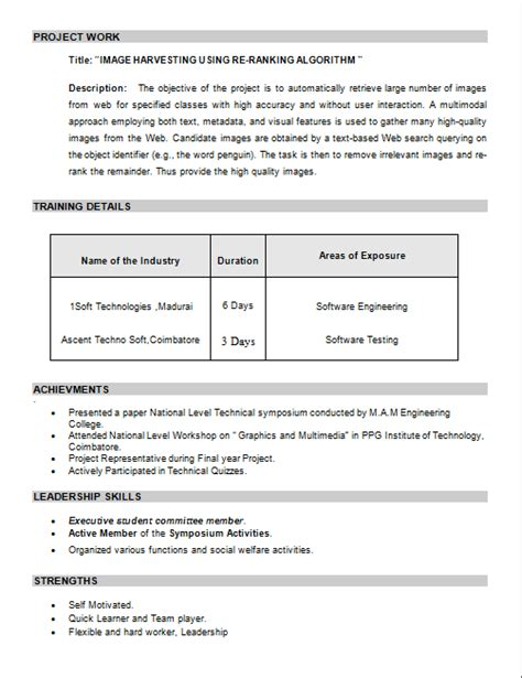 Mcitp Resume Format For Experience by Sle Resume Network Engineer Fresher Resume Format For
