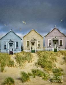 Row Of Pastel Colored Beach Cottages Photograph by Jill