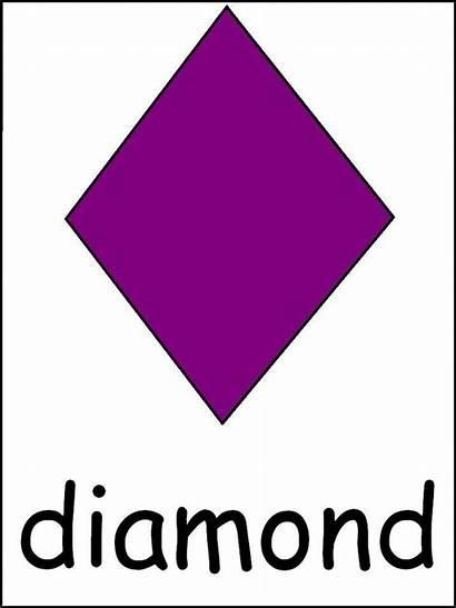 Diamond Shape Printable Preschool Printables Template Clipart