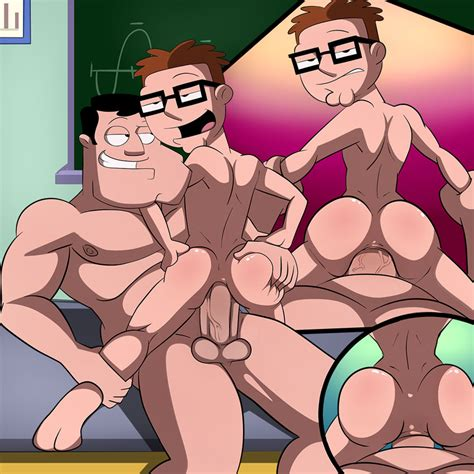Rule 34 American Dad Anal Anal Sex Gay Glasses Human Incest Iyumiblue Male Only Stan Smith