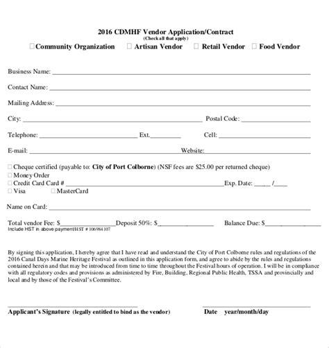 quartermaster templates sle of vendor registration form ideal vistalist co