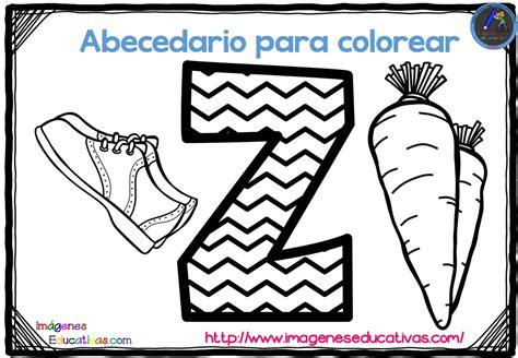 abecedario para colorear listo para descargar e imprimir zig zag 27 imagenes educativas