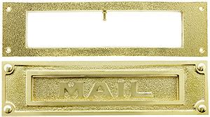 door mail slot heavy duty brass traditional mail slot with open backplate 3429