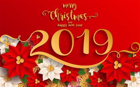 merry christmas greetings and happy new year 2019 vector premium download