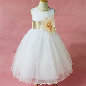flower girl petals dress children bridesmaid toddler With toddler wedding dress