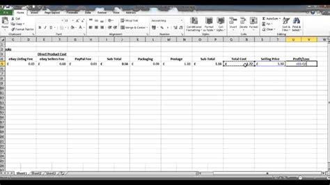 How To Create A Profit And Loss Statement In Excel Profit