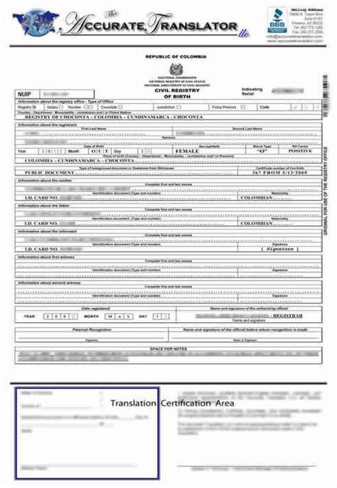 birth certificate translation  public legal documents