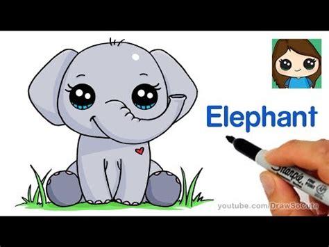 kawaii olifant tekenen kawaii