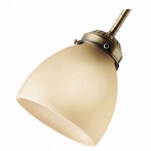 Hunter in amber glass ceiling fan light covers