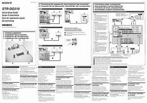 Mode D U0026 39 Emploi Sony Str-dg510
